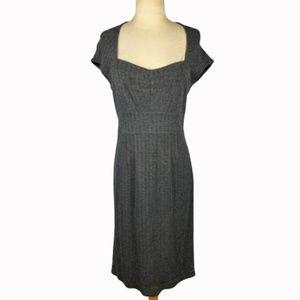 Banana Republic Gray Tweed Sheath Dress 8